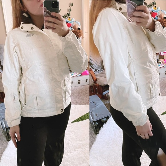 The North Face White Zip Up Winter Jacket